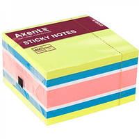 Блок бумаги с липким слоем Axent 75 x 75 мм 450 листов ассорти-1