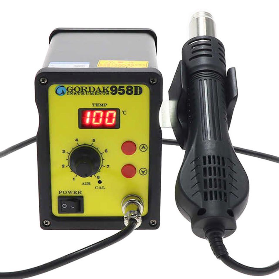 Паяльная станция Gordak958D термофен для пайки 700W пайка SMD, BGA, QFP, металлический корпус
