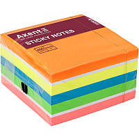 Блок бумаги с липким слоем Axent 75 x 75 мм 450 листов ассорти-2
