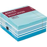 Блок бумаги с липким слоем Axent 75 x 75 мм 450 листов пастель синий