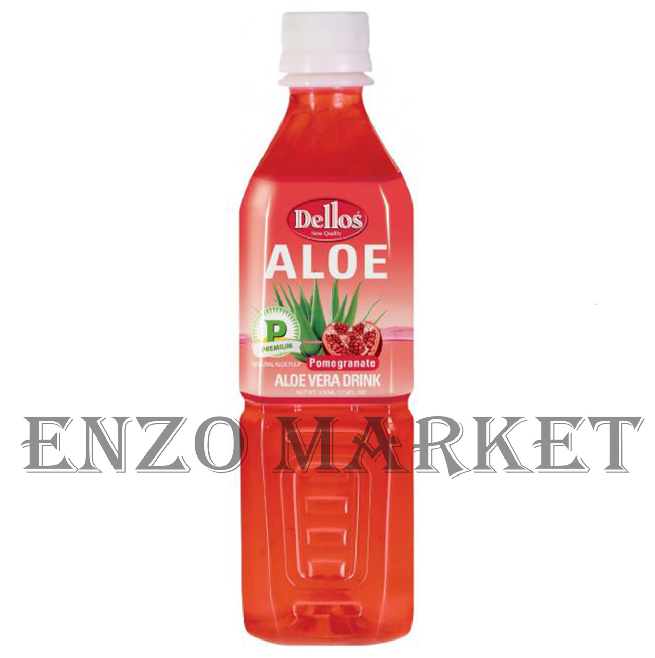 Напиток Aloe Vera Drink Pomegranatel Dellos (алоэ+гранат), 0,5 литра