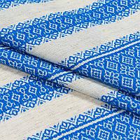 Скатерть вышитая голубая лен TIME TEXTILE. Разные размеры от 150x180
