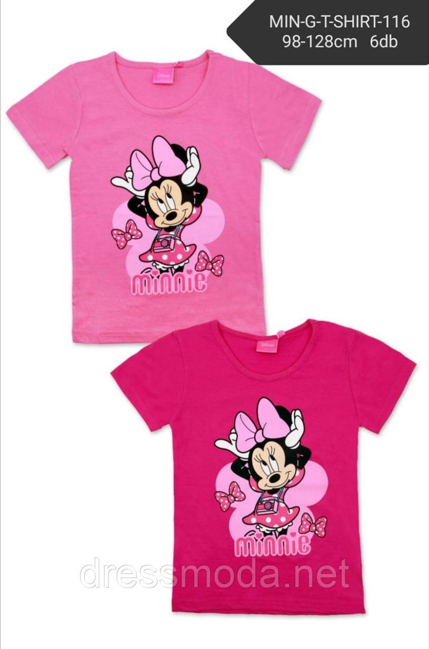 Футболки для девочек Minnie от Disney 3-8 лет