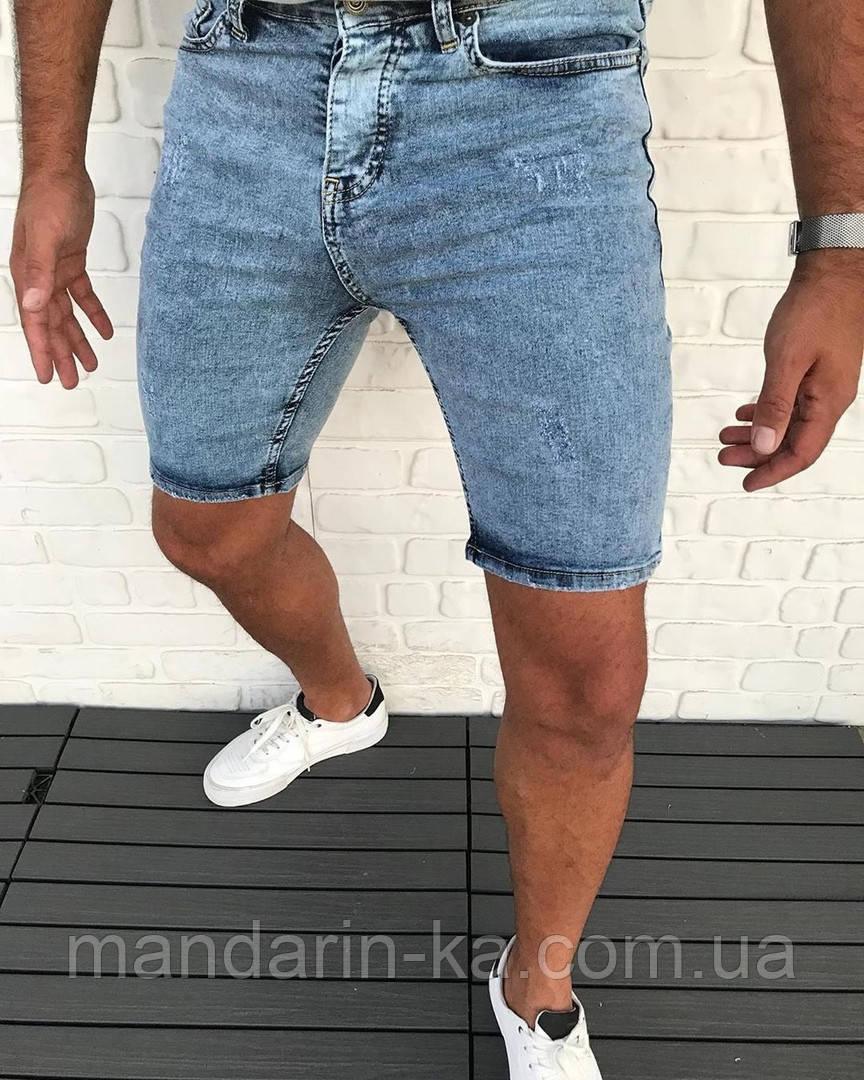 Шорты мужские джинсовые синие