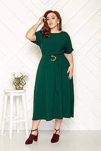 Платье офисное женственное 50-56 р ( разные цвета )