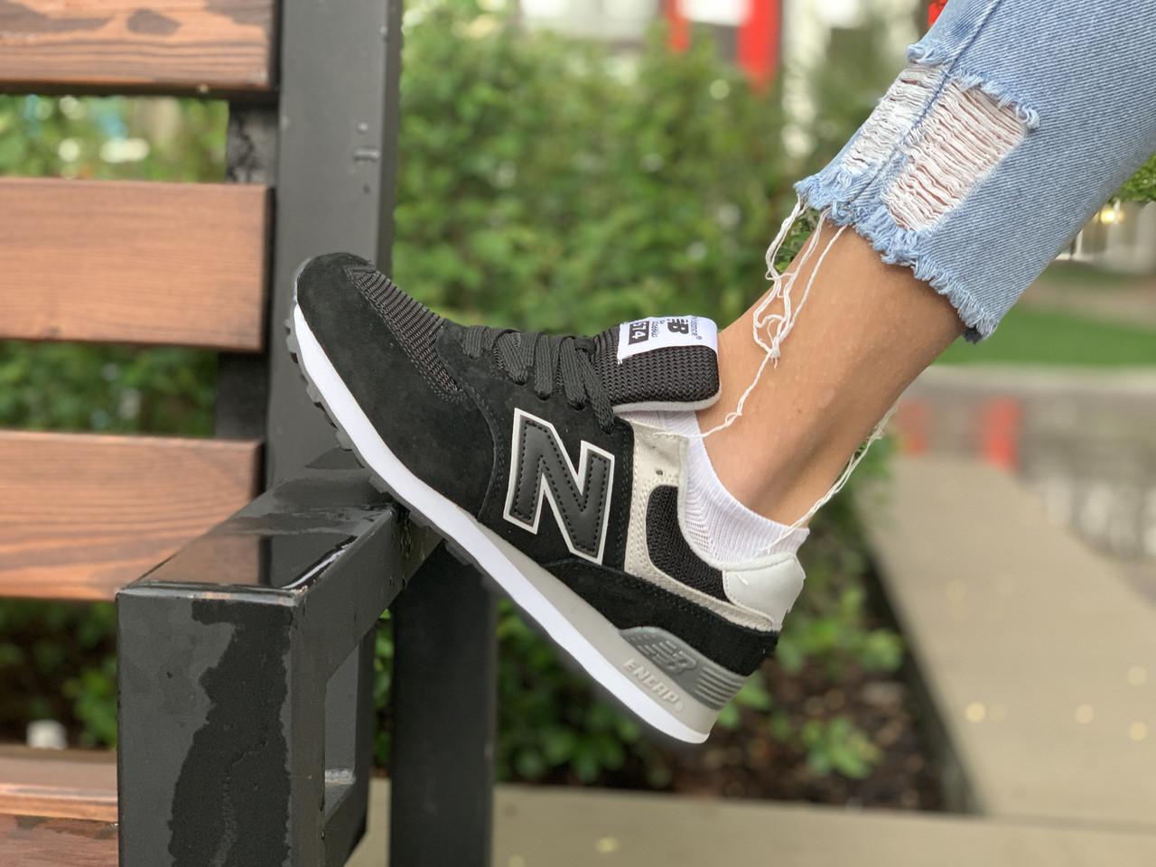 Женские кроссовки натуральная замша New Balance 574 Нью Беланс