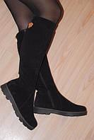 Модные замшевые зимние сапоги