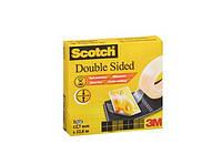 3М 665 Scotch Двусторонняя клейкая лента 12мм х  22.8м