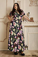 Летнее платье с имитацией запаха