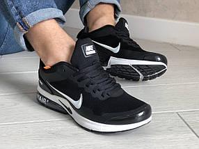 Кроссовки мужские текстильные черные, фото 3