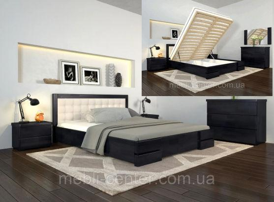 Кровать с подъем. механизмом Arbordrev Регина Люкс квадрат (Бук)