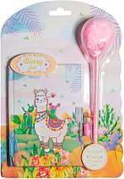 """Блокнот на планшете с ручкой-помпоном """"Веселая лама"""" 56 листов, Malevaro"""