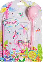 """Блокнот на планшете с ручкой-помпоном """"Розовый фламинго"""" 56 листов, Malevaro"""