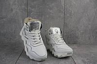 Женские кроссовки кожаные зимние белые-матовые CrosSAV 50