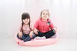 Бескаркасное кресло груша,удобное мягкое розовое кресло груша,бескаркасное кресло детское, фото 4