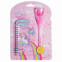 """Блокнот на планшете с ручкой-помпоном """"Единорог розовый"""" 56 листов, Malevaro"""