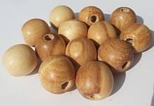 Бусины из клена, яблони, акации и других пород древесины