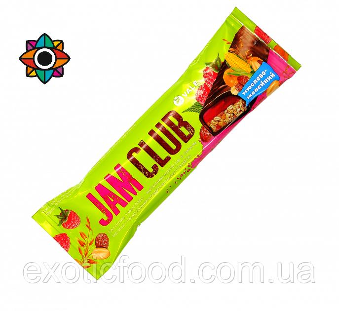 Батончик Jam Club со вкусом мюслей и малины 40 г
