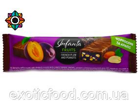 Батончик Infanta со вкусом чернослива и арахиса 40 г