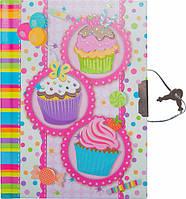 """Блокнот в подарочной упаковке с ручкой """"Пироженки"""" 56 листов, Malevaro, фото 1"""