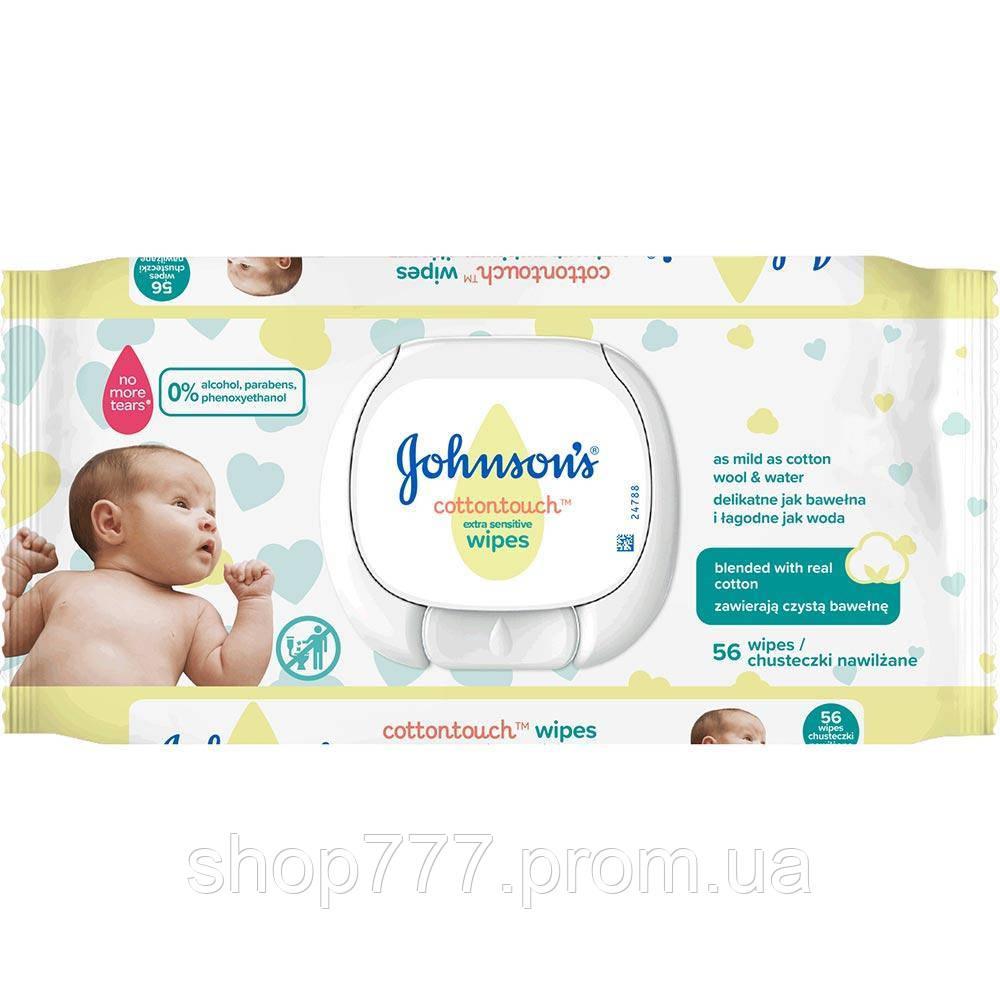 Johnson's Baby Салфетки влажные детски Нежность хлопка 56 шт