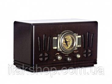 Ретро радио проигрыватель Daklin Де Голль натуральный орех AM/FM,МР3/ USB/ SD (RP-057)