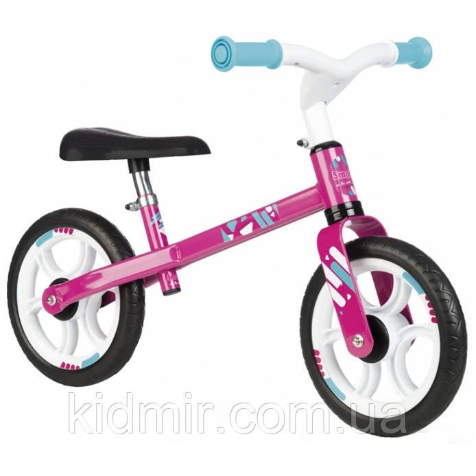 Беговел детский Молния розовый Smoby 770205