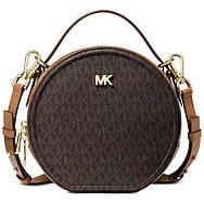 Женская брендовая сумка Michael Kors Delaney brown Lux