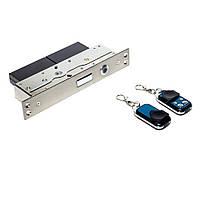 Автономный, радиоуправляемый, врезной замок невидимка interVision ULTRA-2BLOCK