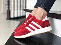Кроссовки Adidas Iniki, красные с белым, 36 размер, по стельке - 23,1см