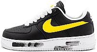 Женские кроссовки Nike Air Force 1 Low G-Dragon Peaceminusone Para-Noise Black Найк Аир Форс черные