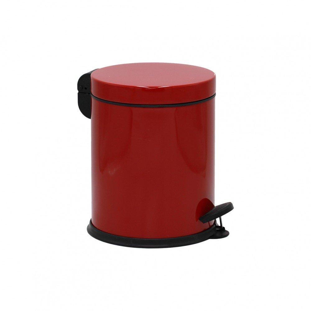 Ведро для мусора металлическое PROFF RED с педалью 5 л