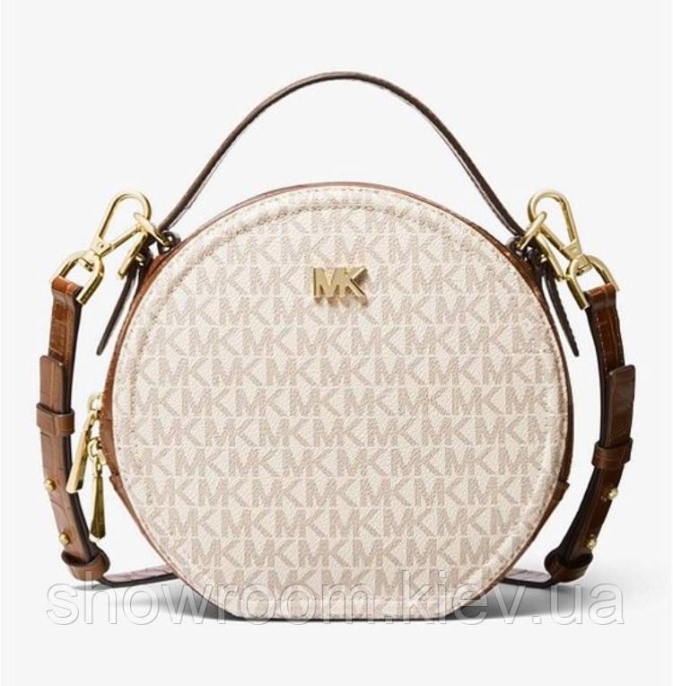 Женская брендовая сумка Michael Kors Delaney beige Lux