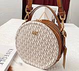 Женская брендовая сумка Michael Kors Delaney beige Lux, фото 3