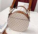 Женская брендовая сумка Michael Kors Delaney beige Lux, фото 4