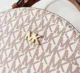 Женская брендовая сумка Michael Kors Delaney beige Lux, фото 5