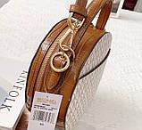Женская брендовая сумка Michael Kors Delaney beige Lux, фото 7