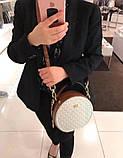 Женская брендовая сумка Michael Kors Delaney beige Lux, фото 8