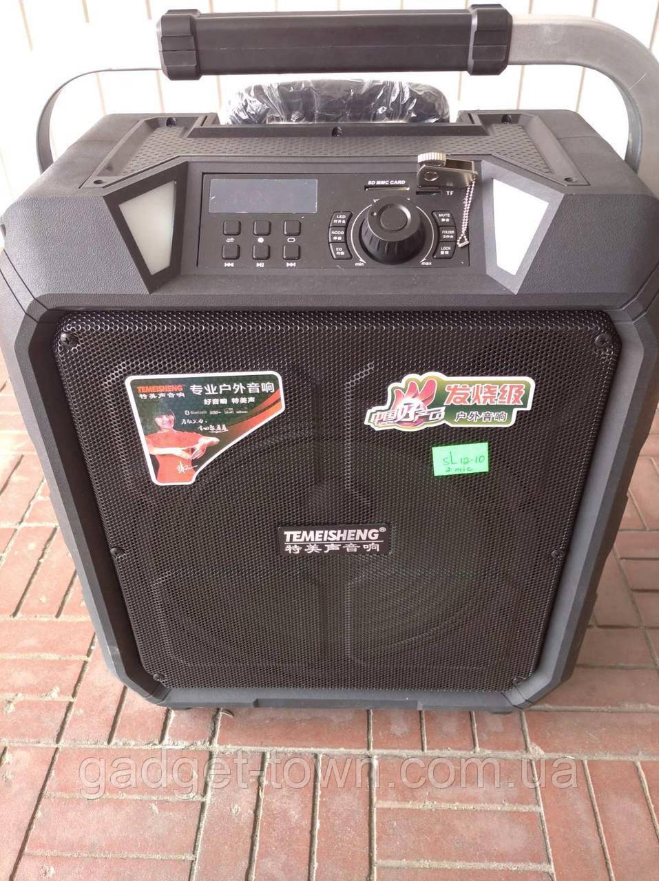 Портативная колонка на аккумуляторе SL12-10 с радиомикрофонами / 180W (USB/Bluetooth)