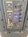 Портативная колонка на аккумуляторе SL12-10 с радиомикрофонами / 180W (USB/Bluetooth), фото 3