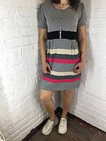 Платье женское 9999 трикотажное серое one size ОПТ
