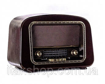 Ретро радио проигрыватель Daklin Европа с подсветкой (RP-050A) Орех