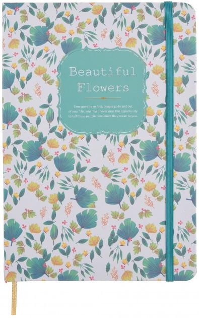 """Блокнот в твердом переплете """"Красивые цветы"""" (средний) 96 листов, Malevaro"""