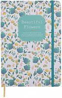 """Блокнот в твердом переплете """"Красивые цветы"""" (средний) 96 листов, Malevaro, фото 1"""