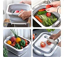 Складная разделочная доска для мытья и резки овощей.