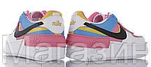 Женские кроссовки Nike Air Force Shadow White Peach Black Hайк Аир Форс Шадоу низкие белые разноцветные, фото 3