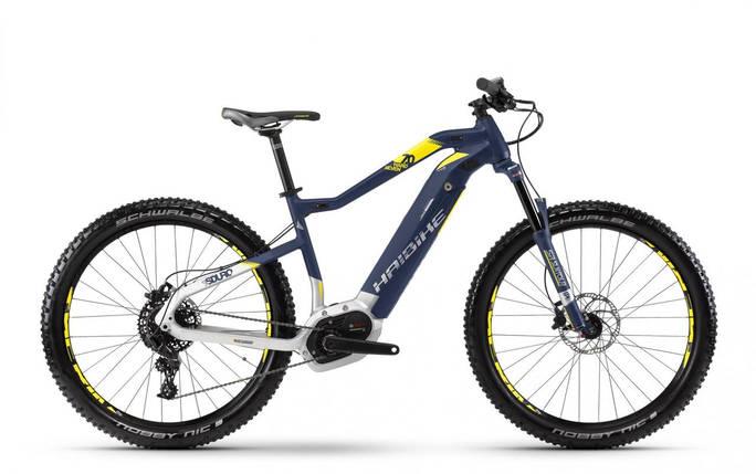 "Электровелосипед Haibike SDURO HardSeven 7.0 500Wh 27,5"", рама L, синий-бело-желтый, 2018, фото 2"