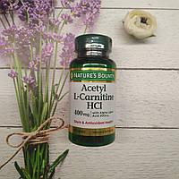 Nature's Bounty Acetyl L-Carnitine HCL 30 caps 400 mg with Alpha Lipolic Acid 200 mg (ALA), ацетил л-Карнитин