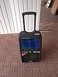 Портативна колонка c екраном SL12-13 з радіомікрофонами / 200W (USB/Bluetooth/Video)), фото 5