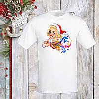 Футболка с новогодним принтом Мэрилин Монро в новогоднем костюме и хлопушка Push IT S, Белый